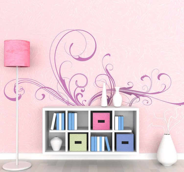 TenStickers. 装饰花丝墙贴纸. 神话般的花丝贴花 - 装饰性设计,将为其所放置的任何房间增添生命。可提供不同颜色和尺寸。