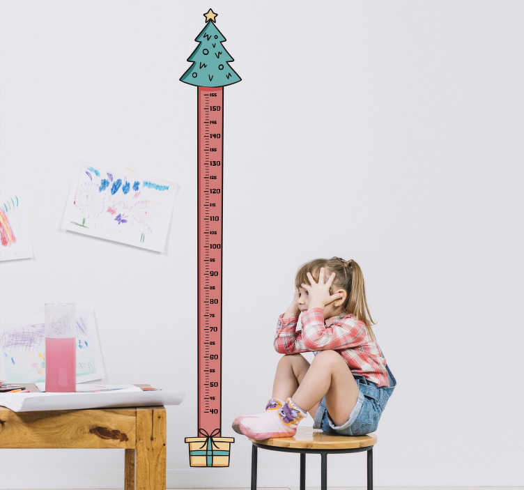 TenStickers. Christmas tree height chart christmas wall sticker. Feeing festive? We certainly are. This height chart sticker is perfect to measure each and every inch your child grows over the festive period!