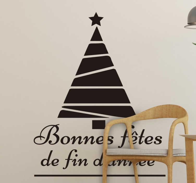 TenStickers. Sticker Vitre Noel bonnes fetes fin d'année. Sticker muraux bonnes fetes d'année pour vous ce noel! Une solution élégante qui vous permettra de celebrer cette joyeuse occasion en style!