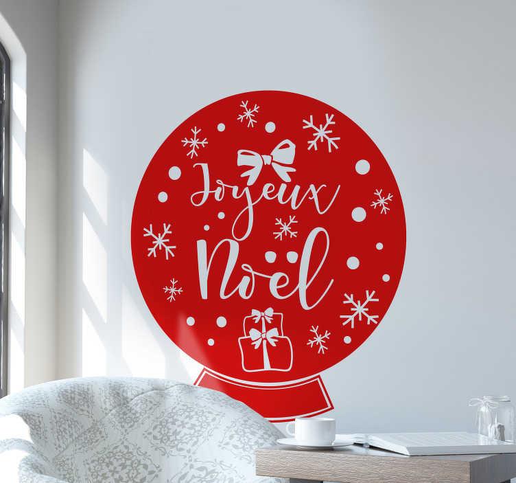 TenStickers. Sticker Vitre Noel boule de sapin. Sticker boule de noel avec couleur personalisable pour vous ce noel et fetez cela en style.Achetez maintenant pour une haute qualité garantie.
