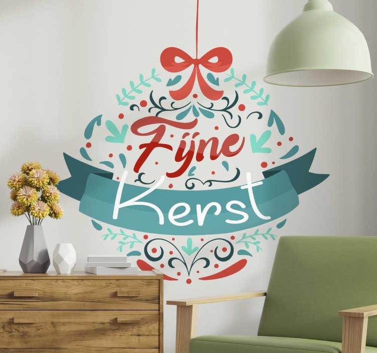TenStickers. Kerststickers in de vorm van een bal. Prachtige kleurvolle kerststicker voor thuis waar je met je gezin van kan genieten tijdens een geweldige periode in het jaar.