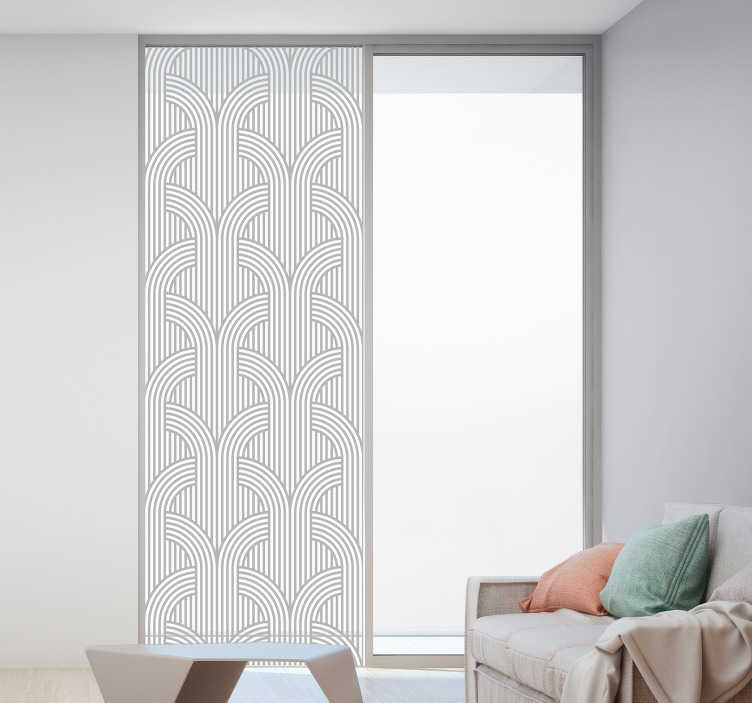 TenStickers. Line pattern Abstract Sticker. Looking to create a unique, abstract look? It couldn't be easier with our patterned stickers. This complex design will transform your space instantly