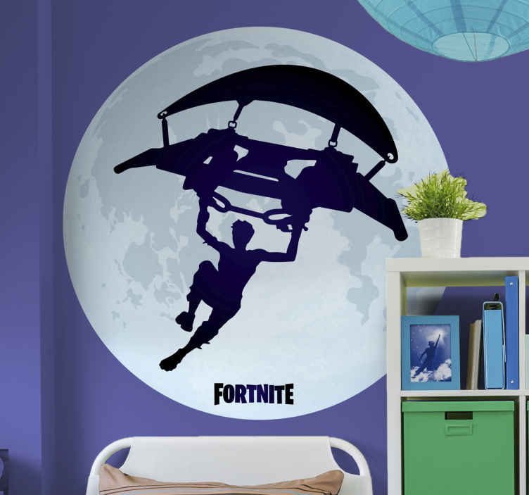 TenStickers. Parachute fortnite video game wall sticker. A superb fortnite sticker that will suit your tastes and preferences! This fantastic design is perfect for any fortnite fans out there