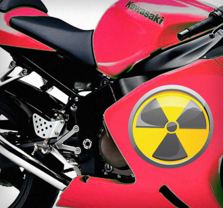 TenStickers. Radioactive Icon Sticker. Vehicle Stickers - Radioactive caution symbol to personalise your vehicle.