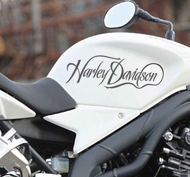 Vinilo logotipo caligráfico Harley