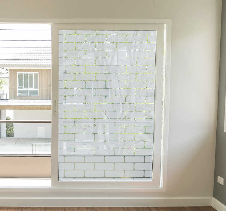 TenStickers. Brick window texture wall decor. This stunning texture sticker is perfect for your home! This brick sticker is available in many sizes and a fantastic selection of over 50 colours