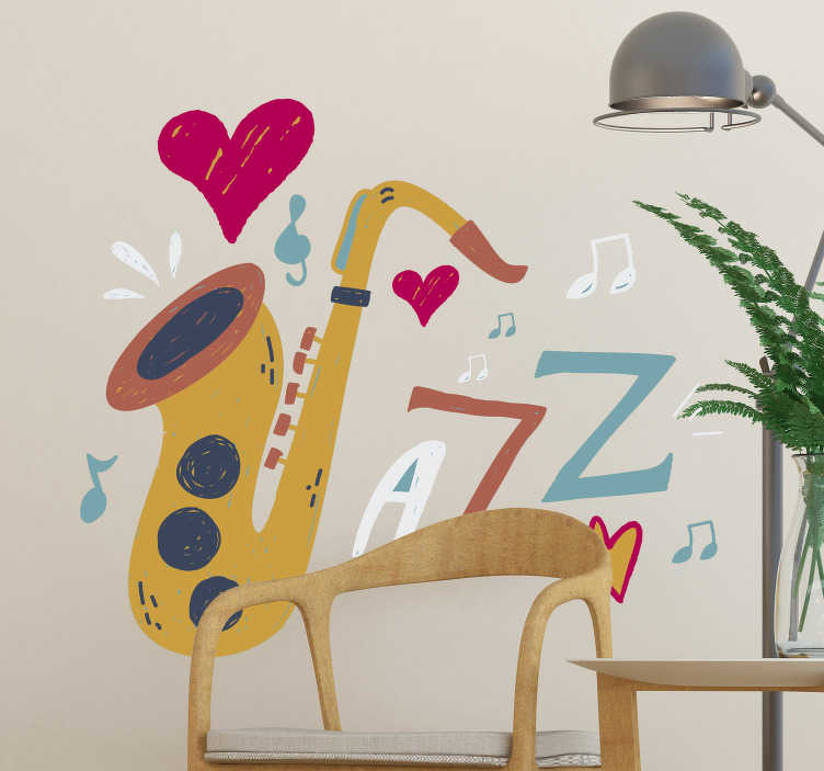 TenStickers. Jazz wall decor. Jazz up your home with this jazz sticker. An easy way of expressing your love for this music genre, and equally a superb way to decorate your home