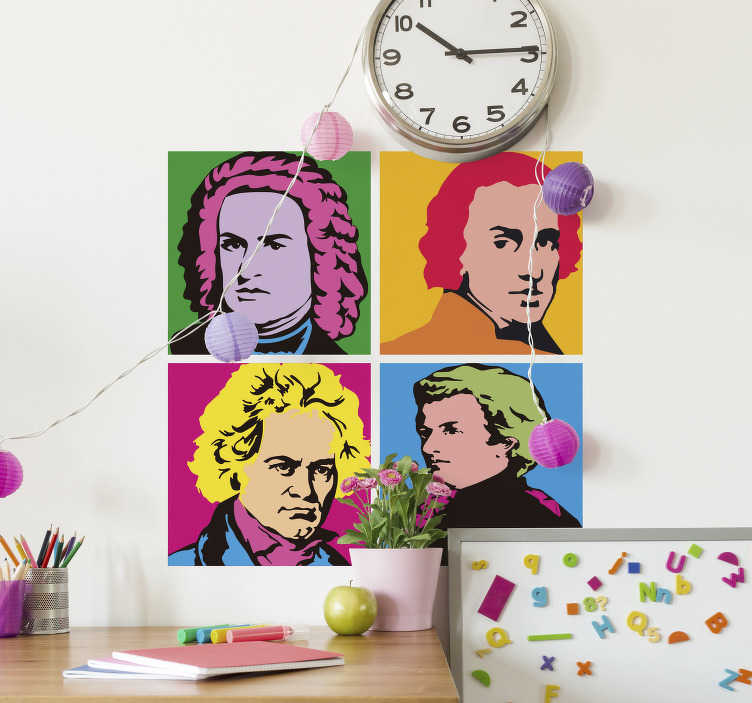 TenStickers. Great authors classical music classical music wall sticker. Easy to apply collection of classical music artistic of different personality. It is design with specific measurement size to fit your space.