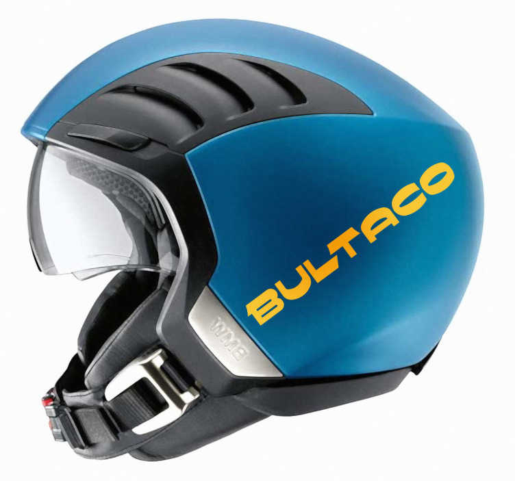TenVinilo. Vinilo moto logotipo Bultaco. Adhesivo del logo de la mítica marca de motocicletas española Bultaco.
