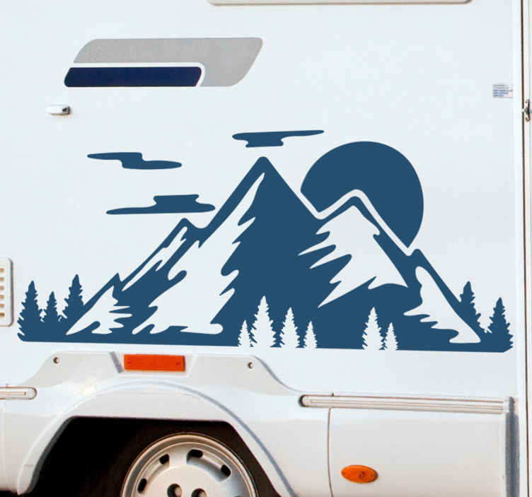 TenStickers. Mountain range for caravan decal. Add a unique and original look to your caravan with this fantastic caravan sticker!The most stunning caravan decal out there!