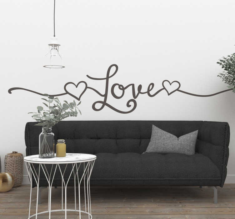 TenStickers. Line style love wall sticker. A charming line style love sticker, perfect for you! A creative design which will definitely add that lovely atmosphere you've been searching for