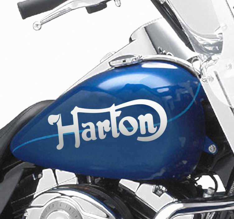 Vinilo moto logotipo Harton