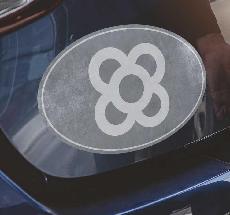 TenVinilo. Vinilo decorativo Barcelona panot para coche. Impresionante pegatina de Barcelona para coche con la imagen de un panot con fondo gris para que decores tu coche de forma original y personal.