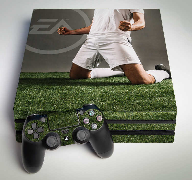 TenStickers. Fifa ps4 sticker. If you are a big fan of the Fifa football game then this skin for PS4 with an image alluding to the game is the ideal decoration for your console!