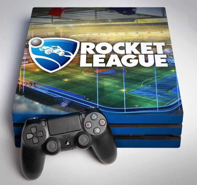 TenStickers. PS4 sticker rocket league. Een geweldige game sticker voor kinderen die elk kind wel wilt hebben. Het gaat namelijk over het spel: Rocket League. Gemaakt van goede kwaliteit.