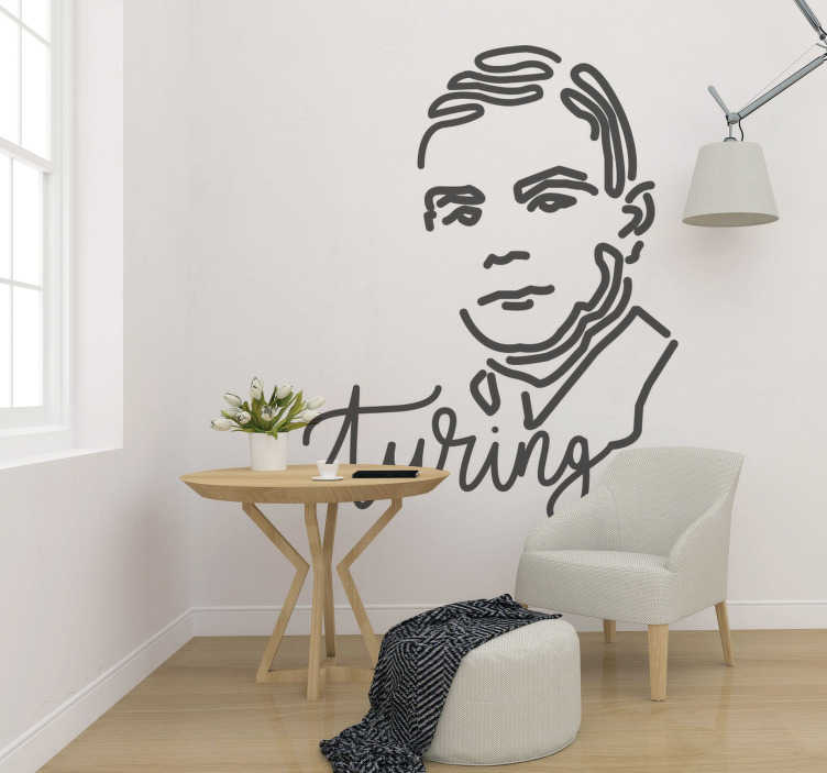 TenStickers. Alan Turning people wall decal. Why don't you make an addition to your room with this Alun Turning sticker. It will subtract the need of staring at your blank, white walls