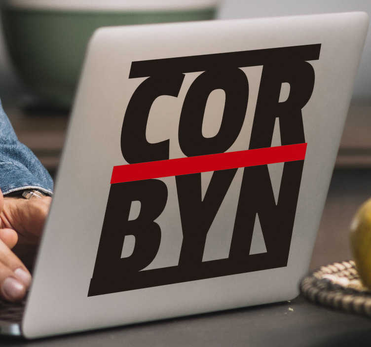 TenStickers. Corbyn Labour political sticker. If you're a Labour support and want everyone to know that then this Labour sticker will help you express your political opinions