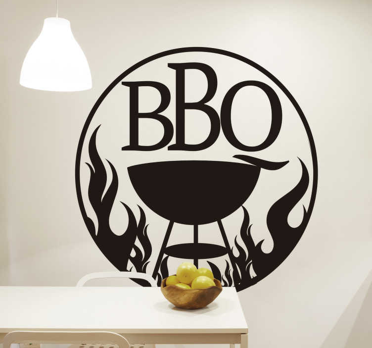 TenStickers. BBQ  food wall sticker. BBQ lover? We don't blame you Who doesn't love the smoky, charcoal taste of the grilled up food! This BBQ sticker is the perfect sticker for you!