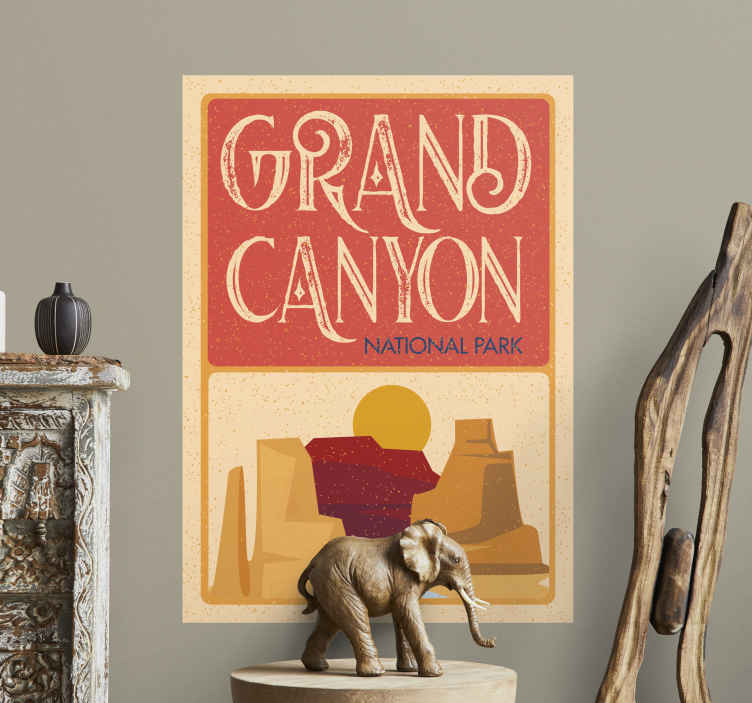 TenStickers. Grand Canyon city and country sticker. If you're looking for a superb Grand Canyon sticker then congratulations you just found the best one! Add some characteristic charm to your home!