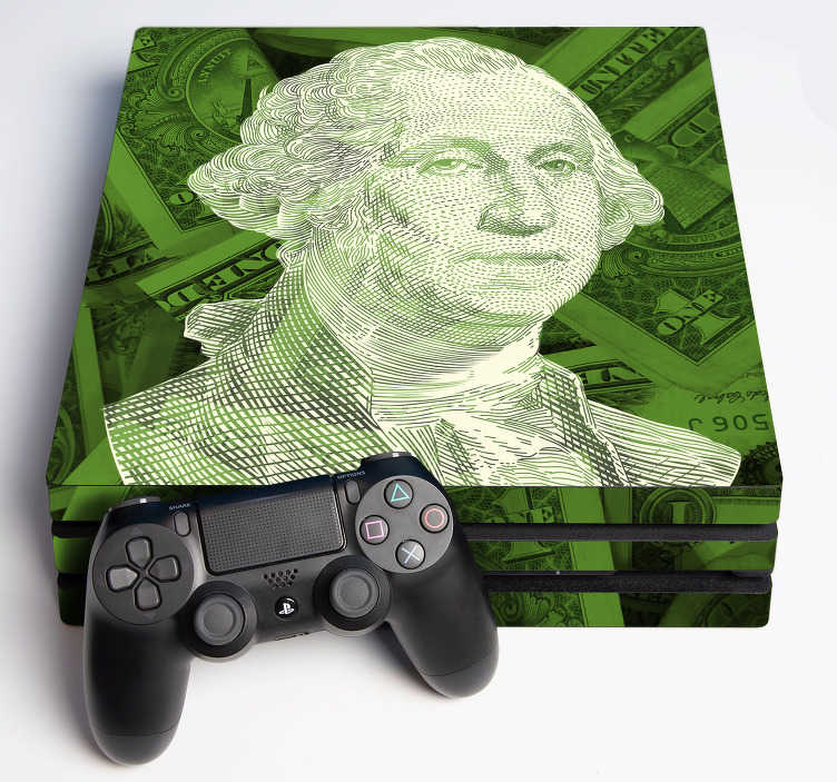 TenStickers. US dollar ps4 sticker. Cha-ching, that's the sound your PS4 will be making after you decorate it with this fantastic PS4 sticker. Easy to apply.