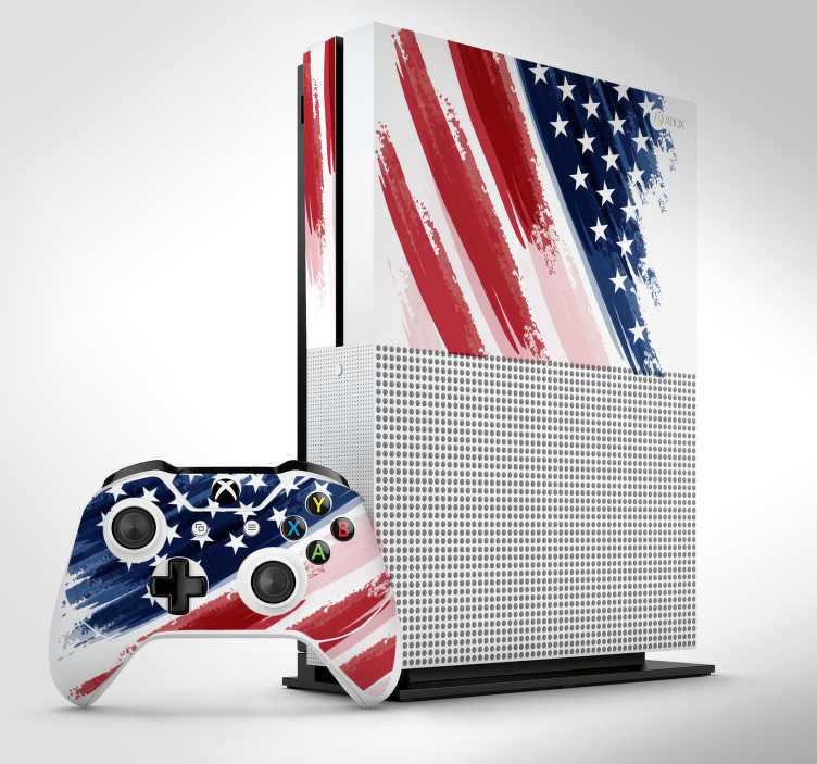 TenStickers. USA Xbox sticker. If you are a US citizen or have an adoration for the country then this USA Xbox sticker is perfect for you! Easy to apply