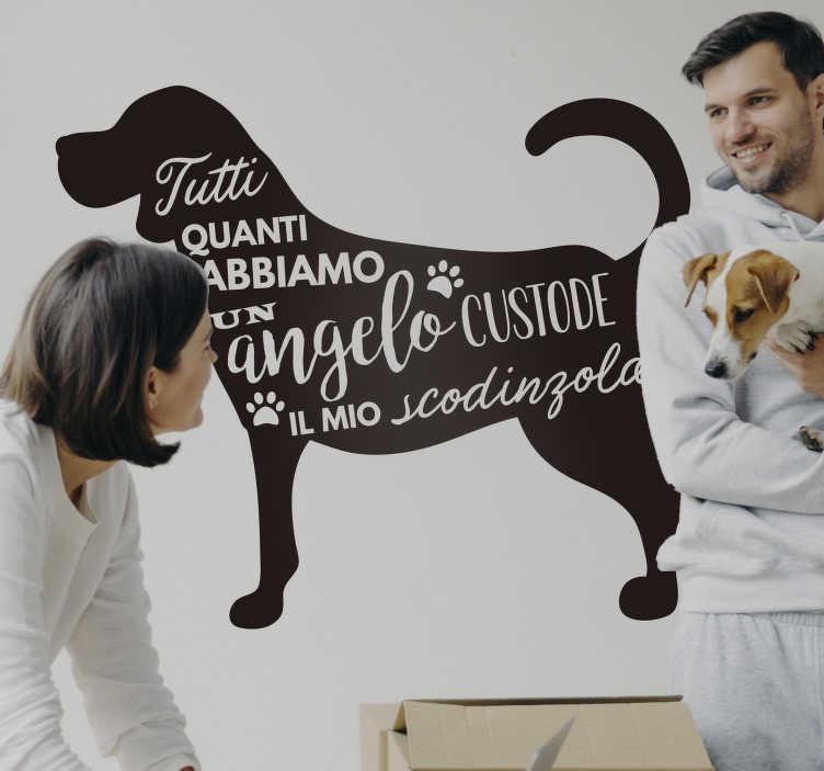 TenStickers. Stencil casa con frase cane. Usa un adesivo murale per la casa con frase sul cane per ribadire l'importanza del tuo amico a quattro zampe! Più di 50 Colori!