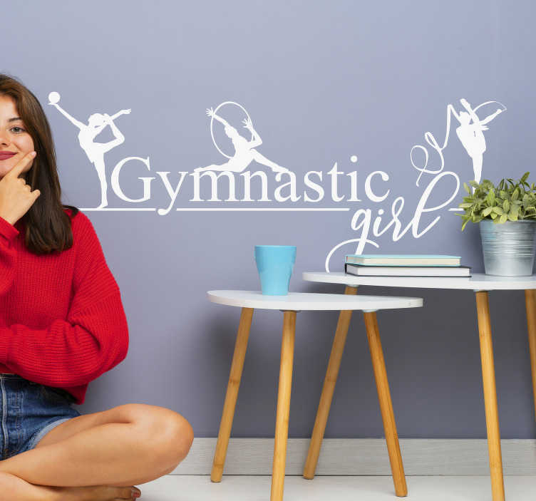 TenStickers. Artistic gymnastics wall decor. An artistic gymnastic sport wall decal that you can have in any colour and transform your wall with this sport art and feel happy .