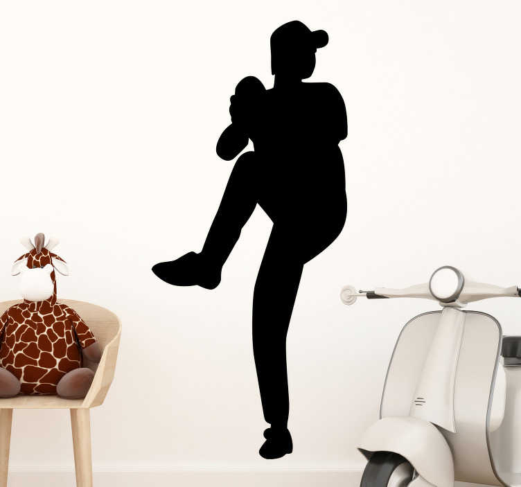 TenStickers. Cricket bowler silhouette wall sticker. A cricket player silhouette of a female personality that you can have in any colour and size that you prefer. Easy to apply design.