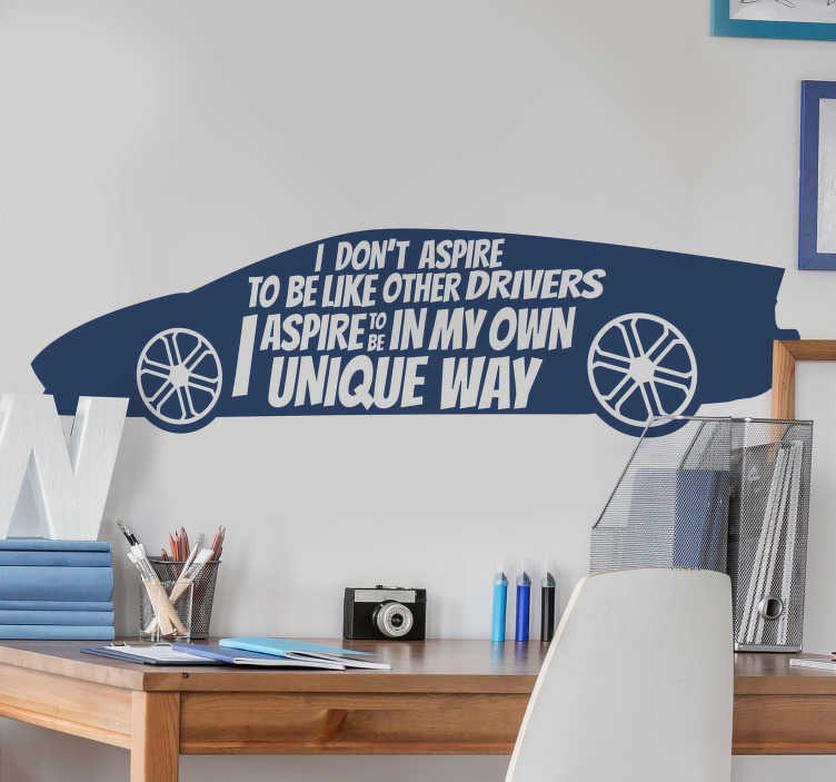 TenStickers. Lewis Hamilton  quote decal. Lewis Hamilton's quote on a car that will be nice to decorate your living room or bedroom. This design will inspire you and keep the wall beautiful.