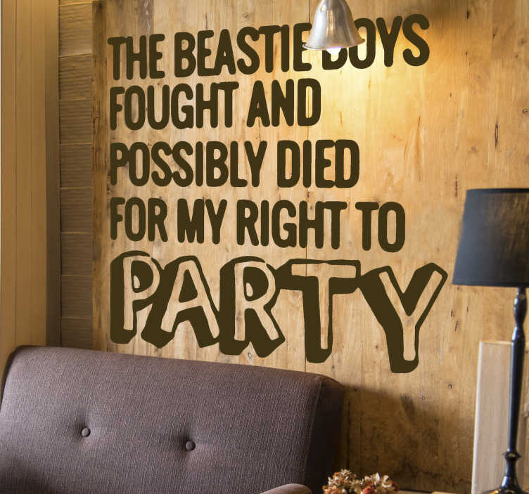 TenStickers. Peep show tv series  quote wall decor. A wall sticker of famous quote that you can have in any colour and size that you prefer. Easy to apply design to beautify your living room or bedroom.