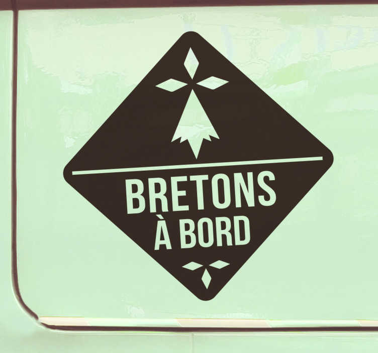 TenStickers. Sticker Mural bretons à bord stylée. Vous cherchez un stickers voiture qui va vous gagner du respect?! Ne cherchez pas plus loin! Achetez maintenant! Application Facile.
