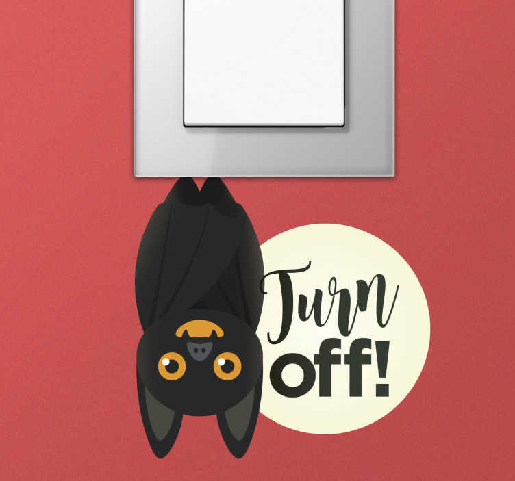 TenStickers. Bat switch light switch cover sticker. Wall switch cover decal design created with bat in nice colour to decorate the surface of your switch at home. Easy to apply design.