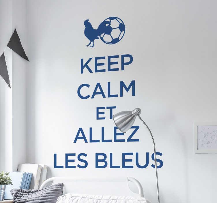 TenStickers. Sticker Mural Foot allez les bleus. Notre nouveau sticker pour la meilleure équipe de foot du monde, décorer en style avec cet autocollant de ultra haute qualité!
