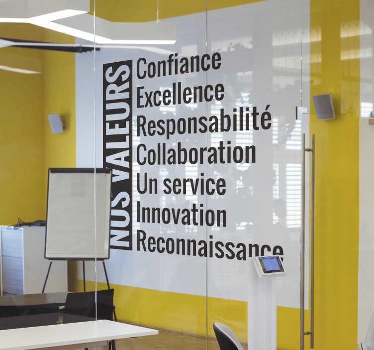 TenStickers. Sticker Texte entreprise. L'autocollant de motivation parfait pour votre entreprise ou la chambre de vos enfants! Faites-les discipliner et prêts à travailler !