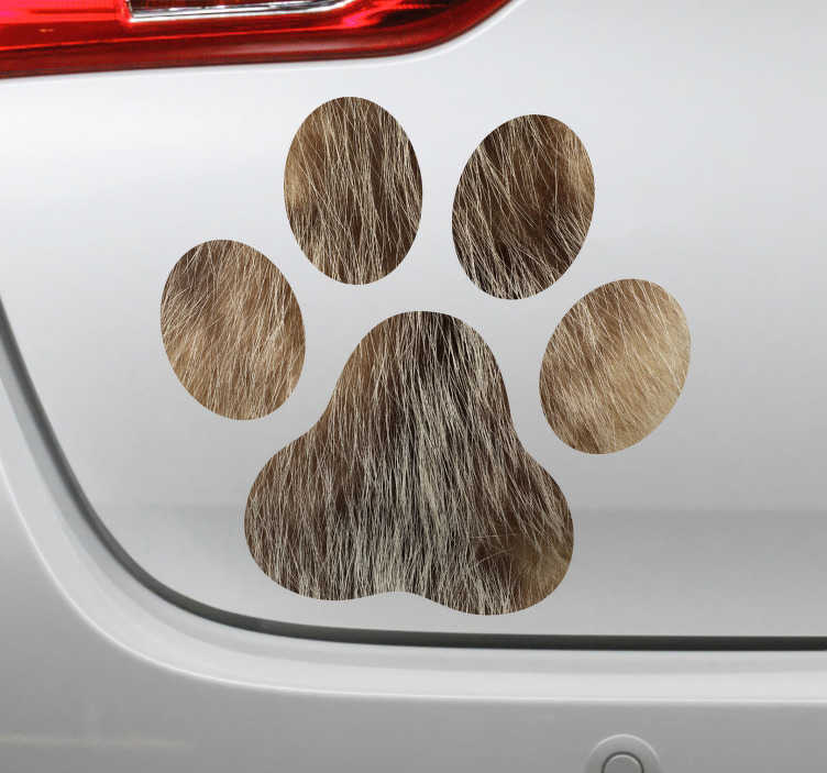 TenStickers. Dog paws car decal. Dog paw car window sticker to decorate your car in a unique and uncommon style. This design is easy to apply eand you can chose the size you prefer.