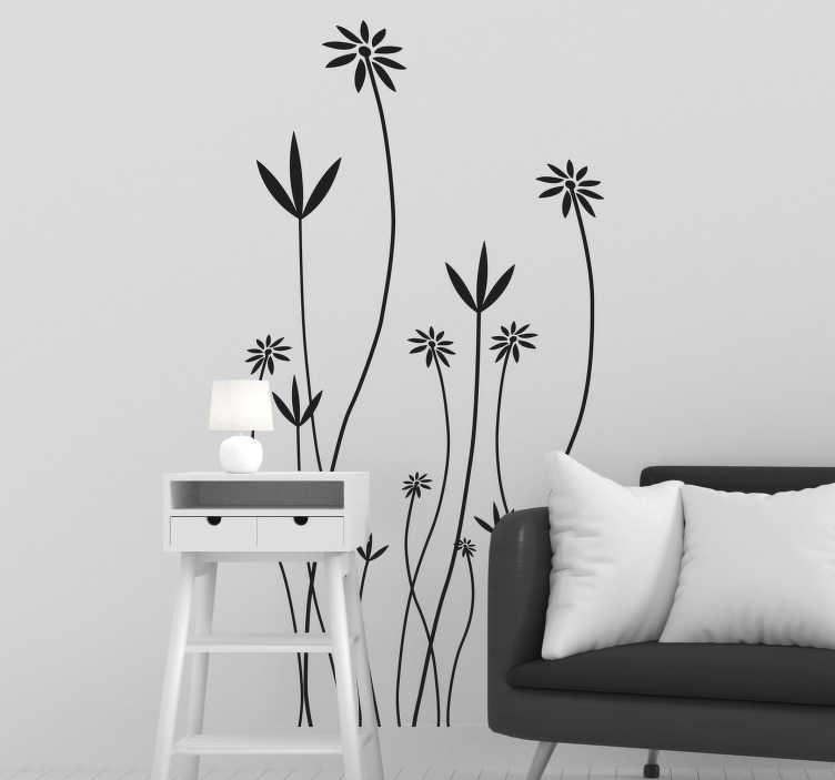 Sticker porte plantes allongées