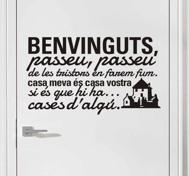 TenVinilo. Vinilo benvinguts Jaume Sisa. Adhesivo del estribillo de la canción compuesta por el cantautor catalán Jaume Sisa: Qualsevol nit pot sortir el sol.