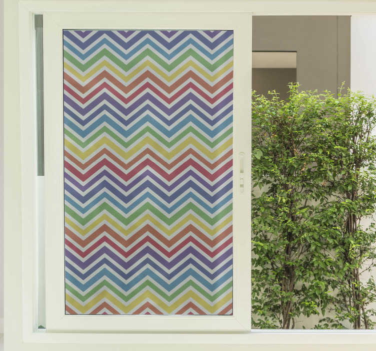 TenStickers. Zig zag rainbow window decal. If you are wondering how to decorate your windows then this rainbow sticker will certainly transform your windows from bland and boring to fun!