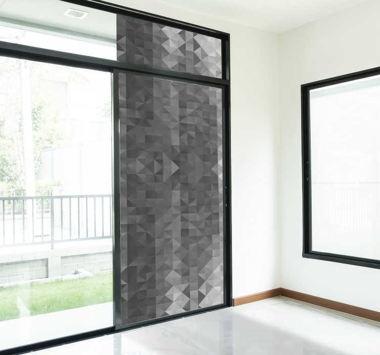 TenStickers. Stickers raam kristal 3d grijs. Een geweldige grijze 3d muursticker waarbij de blokjes als het ware naar voren komen wat een leuke en mooie uitstraling geeft.