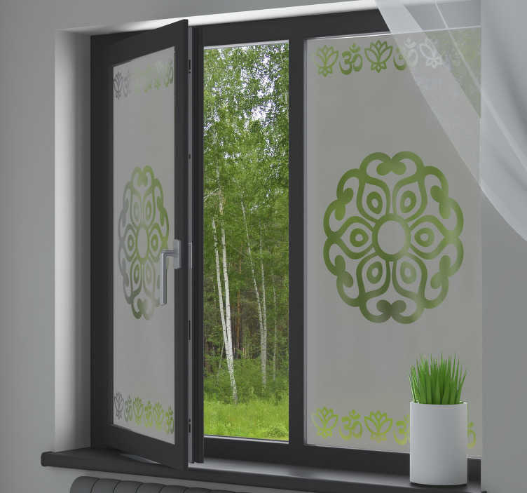 TenStickers. Original Mandala window decal. If you are struggling to add some character and a unique look to your home, well we've got a solution! How about this window sticker?