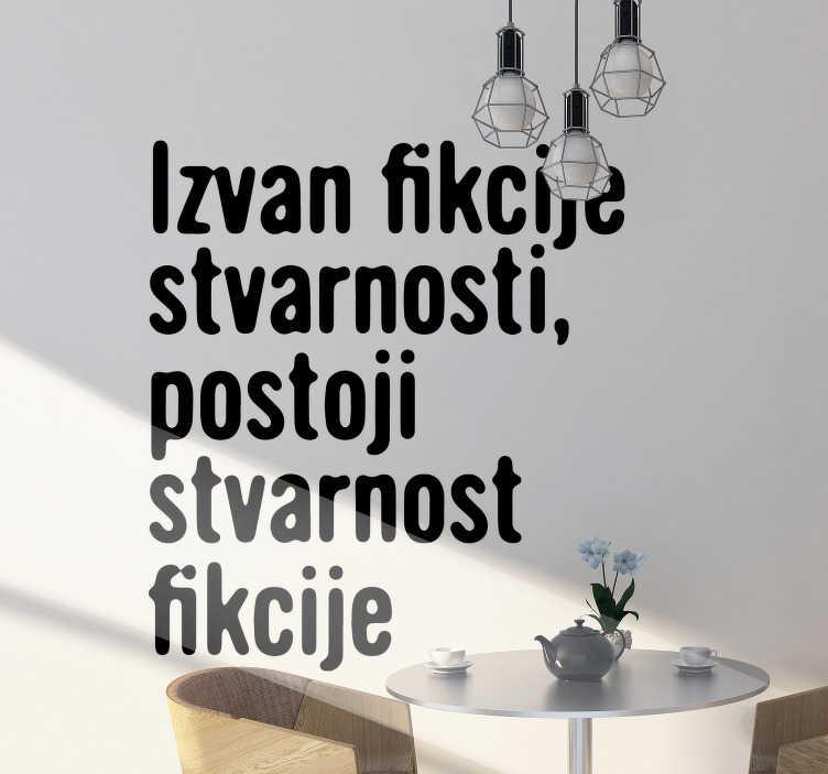 TenStickers. Slavoj zizek citat citat nalepka. Znana nalepka za stenske navedbe, s katero boste radi okrasili svoj dom. Ta oblika je lahko v kateri koli drugi barvi in velikosti po vaši izbiri.