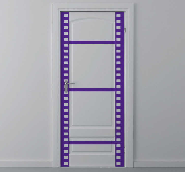 TenStickers. Roll Film Door Sticker. Roll film decorative sticker for the movie and photography lovers. Superb decal to decorate your door.