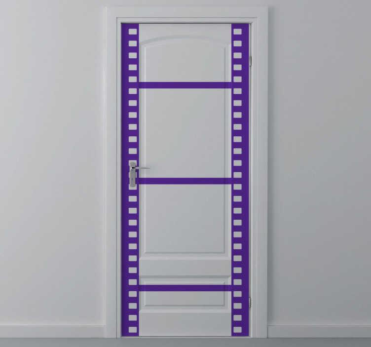 TenStickers. Sticker decorativo nastro fotogrammi. Adesivo decorativo che raffigura una pellicola cinematografica oppure il nastro di un rullino fotografico.