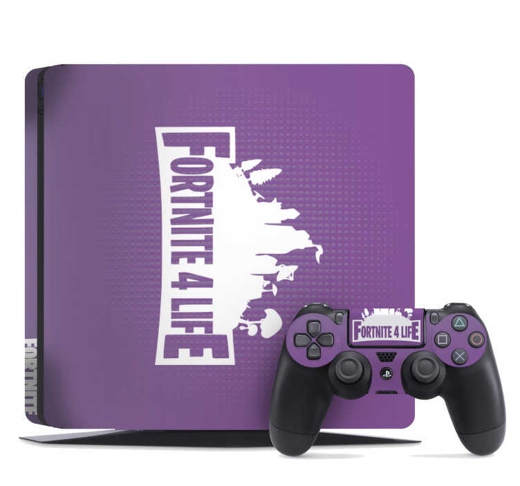 TenStickers. Fortnite Skin video game wall sticker. Personalize your PS4 with this awesome PS4 skin decal from Fortnite and amazed your friends with your unique videogame console.