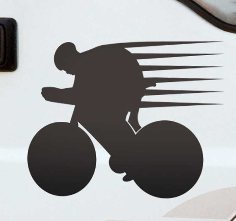 TenStickers. Running cycling wall sticker. If you are a lover of sport cycling, express your passion with this amazing bike cycling decal showing speed. This design can be made in any size.