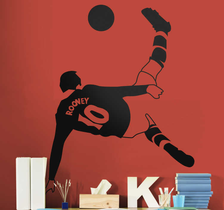 TenStickers. Wayne Rooney  football sticker. Wayne Rooney football sport inspiration  wall sticker for lovers of the game. This product have a nice blend on your wall and made with high quality.