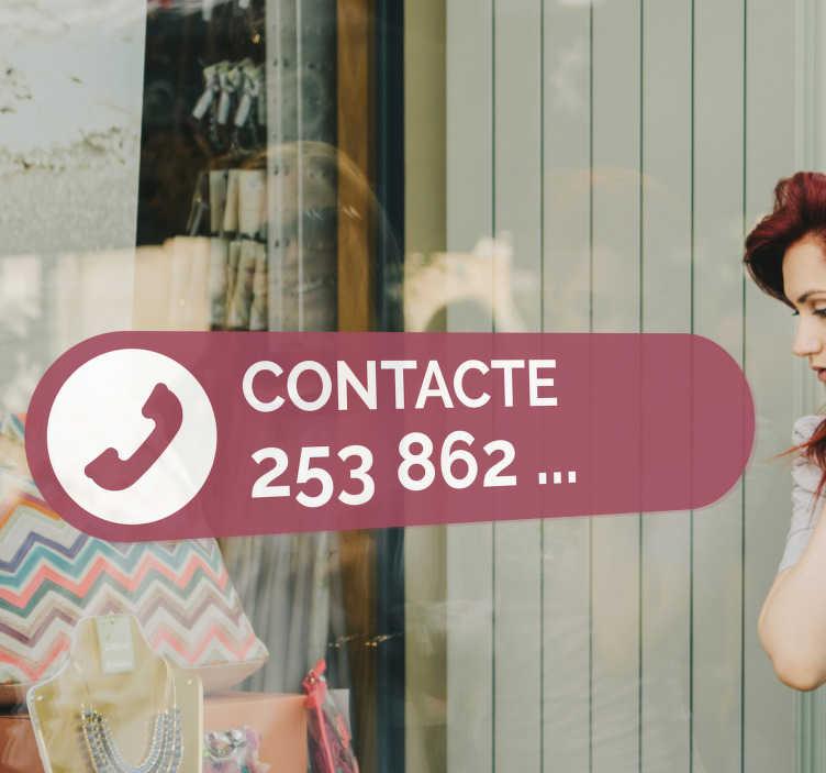 TenStickers. Autocolantes decorativos de indústria Contacto Telefónico. Informa os teus clientes do contacto telefónico do teu estabelecimento ou negócio com este fantástico autocolante de negócios.