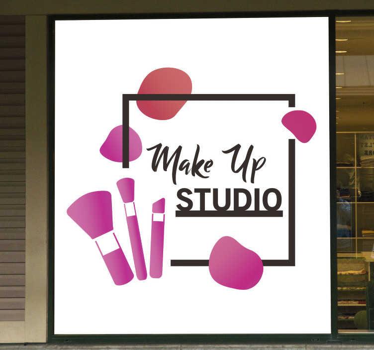 TenStickers. Sticker azienda artista del trucco. L'adesivo per estetista artista del trucco è perfetto per una professionista della bellezza come te per aggiungere dettagli preziosi ai tuoi locali!