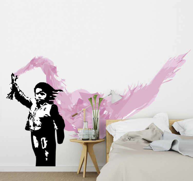 TenStickers. stickerdi stickers murali di banksy Adesivo da parete Banksy Vene. Adesivo da parete di Banksy a Venezia prodotto dell'opera d'arte banksy venecia che metterà un'aura speciale sul muro. Questo prodotto è facile da applicare.