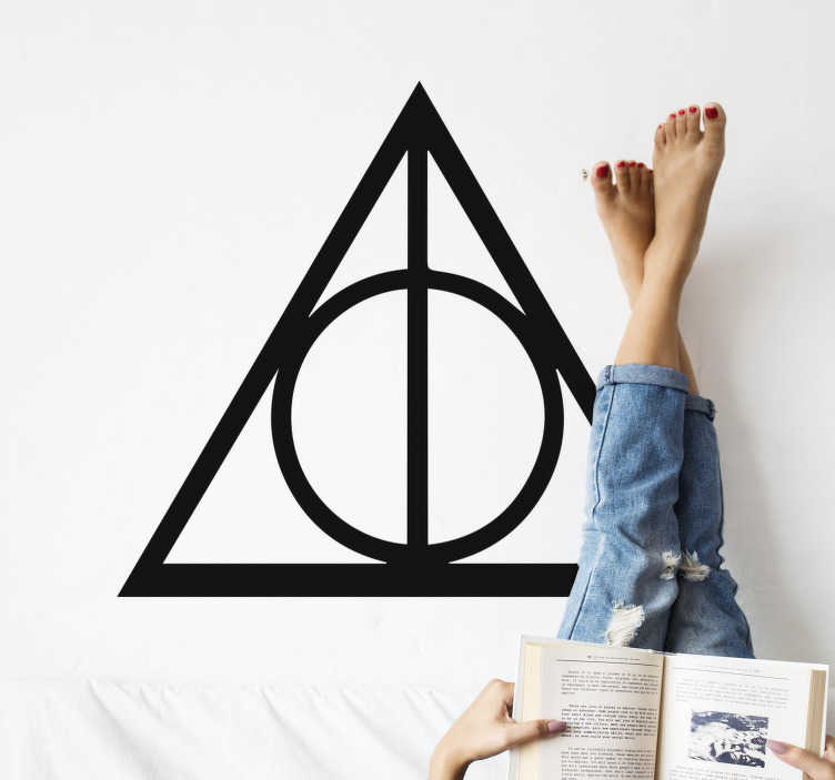 TenStickers. Harry Potter - The Deathly Hallows cinema wall sticker. Harry Potter-The deadly hollows cinema hollywood decal for your wall or any flat surface of your choice. Easy to apply and you can choose the size.